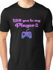 Will You Be My Player Blue Unisex T-Shirt