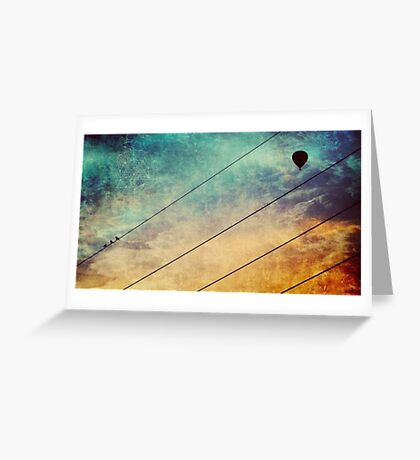Birds On A Wire #2 Greeting Card