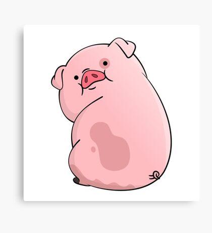 Pinky Cute Hog  Canvas Print