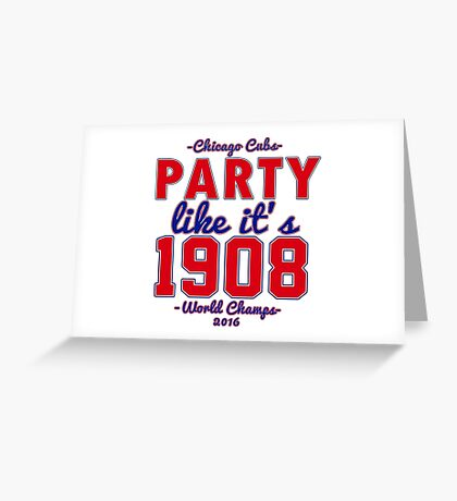 Chicago Cubs World Series Design Greeting Card