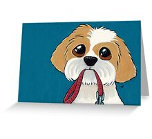 Time for My Walk (Card Version) Greeting Card