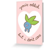 Oddish Valentine V2 Greeting Card