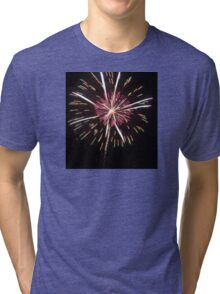 pink and white fireworks  Tri-blend T-Shirt