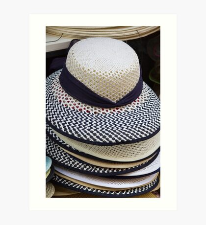 hat in the shop Art Print
