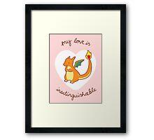Charizard Valentine V2 Framed Print