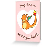 Charizard Valentine V2 Greeting Card