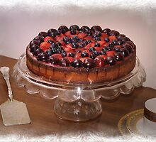 Cherry Strawberry Cake by Kenneth Hoffman
