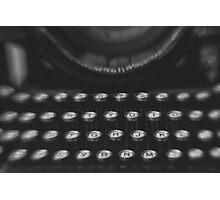 Woodstock Typewriter Study 1 Photographic Print
