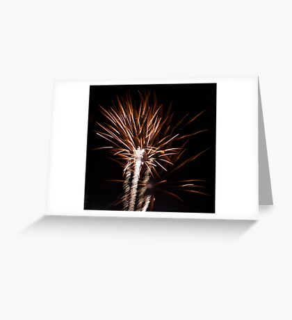 golden feathered sparks Greeting Card