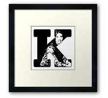 K is for Kaylee Framed Print