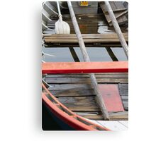 boat on lake Canvas Print