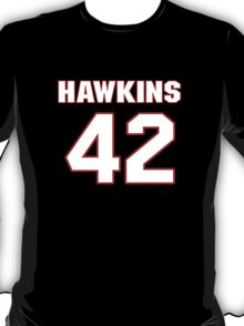 NFL Player Travis Hawkins fortytwo 42 T-Shirt