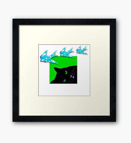 Dreamy Cat Framed Print