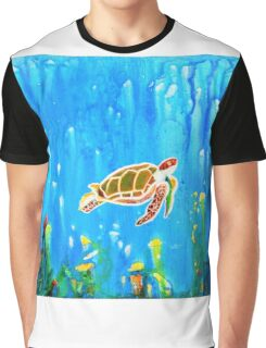 Underwater Magic 5-Happy Turtle excellent gift for fun decor  Graphic T-Shirt