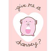 Chansey Valentine V2 Photographic Print