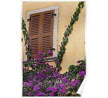 flowered window Poster