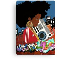 Old School Afro Canvas Print