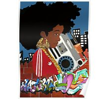 Old School Afro Poster