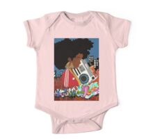Old School Afro One Piece - Short Sleeve