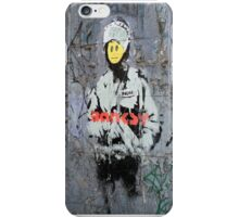 Banksy Smile Cop  iPhone Case/Skin