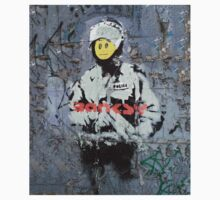 Banksy Smile Cop  Kids Clothes