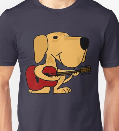 Puppy Dog Playing Guitar Unisex T-Shirt