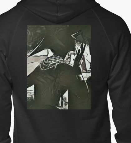 Silhouettes Zipped Hoodie