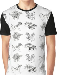 Four Dragons Pattern Graphic T-Shirt