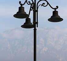 old lamp at lake by spetenfia