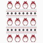 Totoro Winter Pattern - Red by Chloe Morris