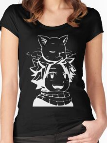 natsu & happy- Fairy Tail Women's Fitted Scoop T-Shirt