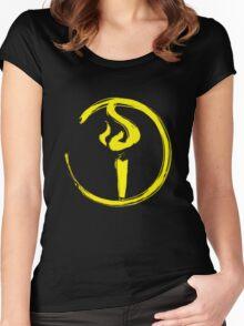 Light Bearer Symbol Women's Fitted Scoop T-Shirt