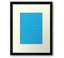 Polkadots Blue and Turquoise Framed Print