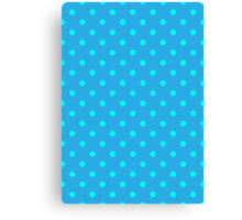 Polkadots Blue and Turquoise Canvas Print