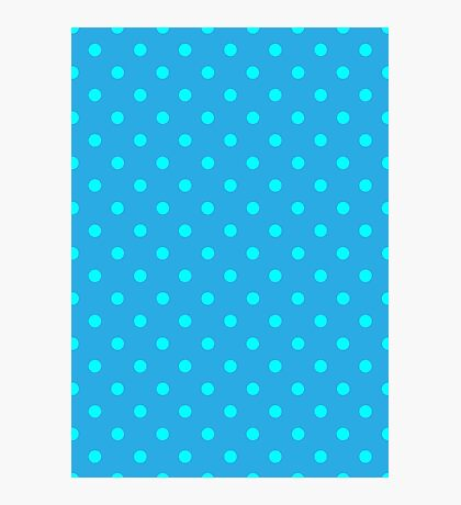 Polkadots Blue and Turquoise Photographic Print