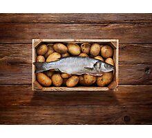 Raw Fish & Chips Photographic Print