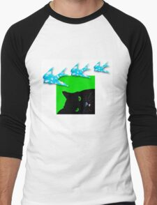 Dreamy Cat Men's Baseball ¾ T-Shirt