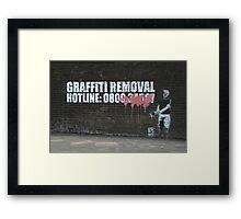 Graffiti Removal Hotline Framed Print