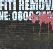 Graffiti Removal Hotline Sticker