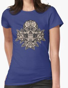 Flowering Sugar; Skulling Series Womens Fitted T-Shirt