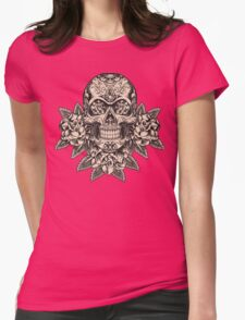 Flowering Sugar; Skulling Series Womens T-Shirt