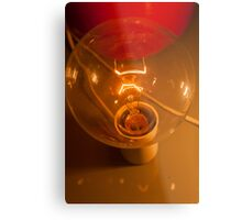 lamp on table Metal Print