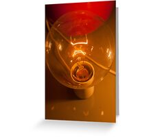 lamp on table Greeting Card