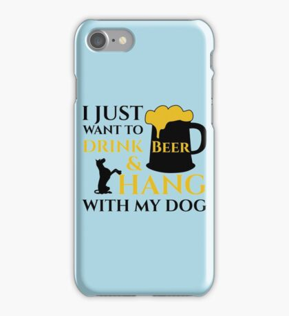 BEER AND MY DOG copy iPhone Case/Skin