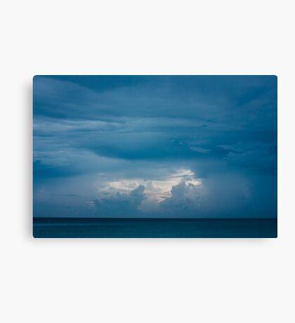Deep Blue Seascape with Clouds Canvas Print