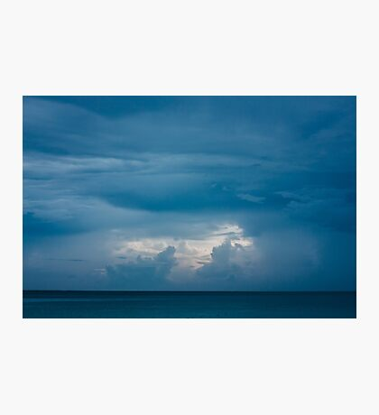 Deep Blue Seascape with Clouds Photographic Print