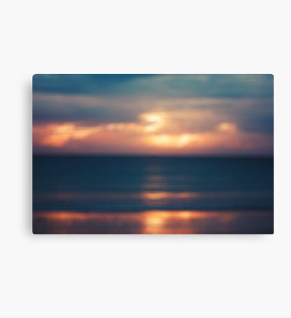 Blurred Image of Seascape with Sunset Canvas Print