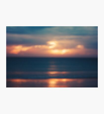 Blurred Image of Seascape with Sunset Photographic Print