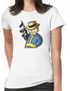 Fallout Vault Boy Mobster Womens Fitted T-Shirt