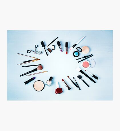 Various Make up Products Photographic Print